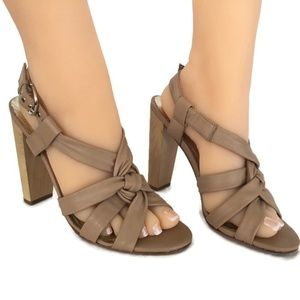 Charles David Heel Sandal Women 8 M Tan Leather